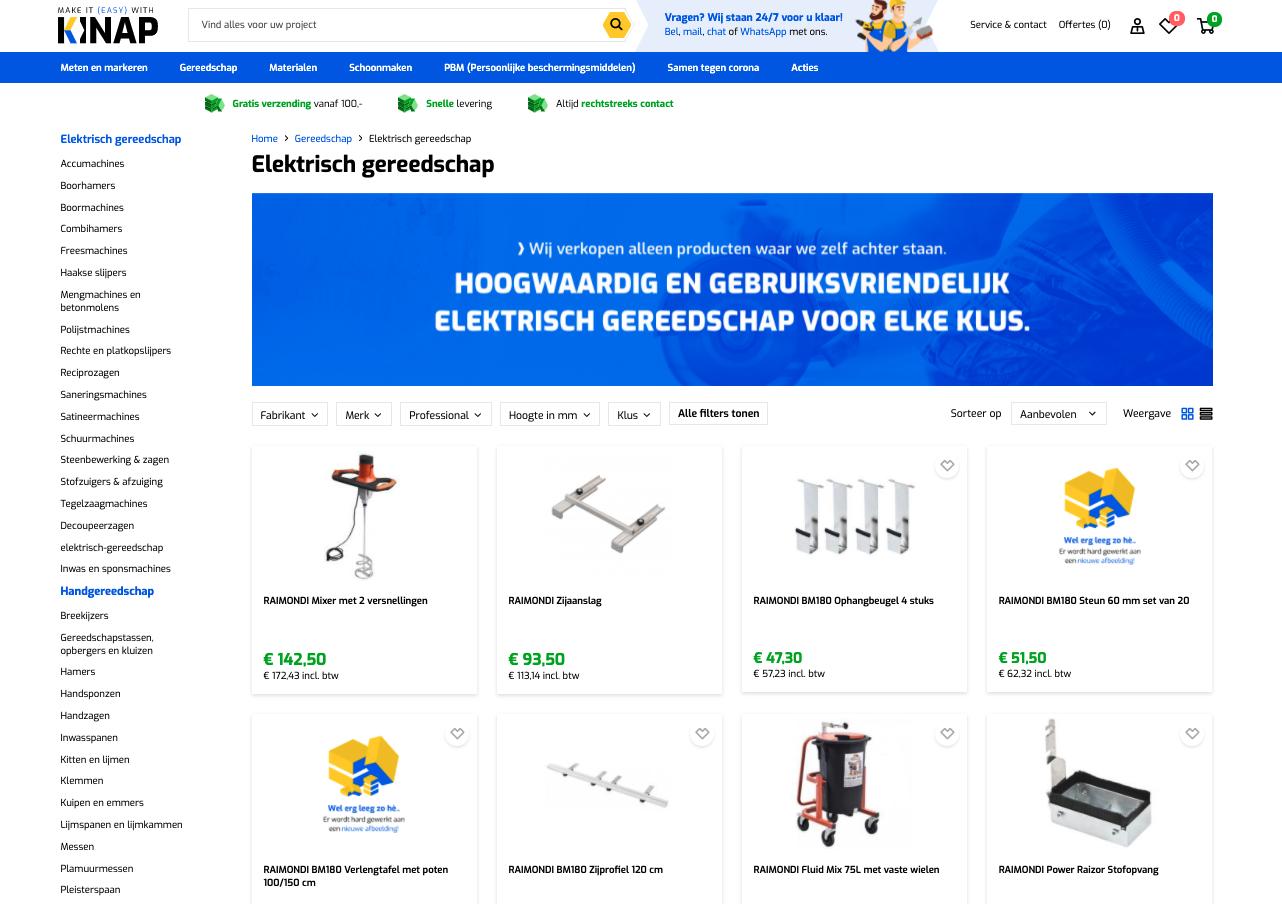 SlKinap - b2b webshop gemaakt door Jelba online b2b marketing