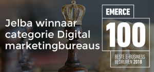 Jelba winnaar Emerce 100 Digital marketingbureaus