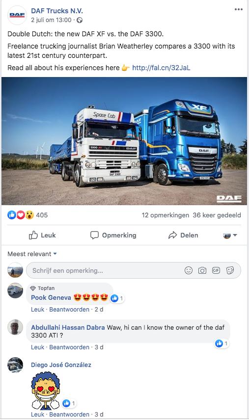 B2B social media van DAF